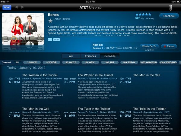 ATT U-verse iPad App Review – Tasel's Ramblings